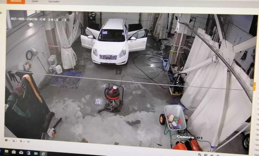 Установка видеонаблюдения автомойка